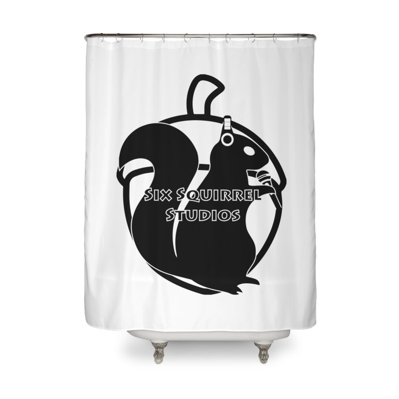Classic Six Squirrel Studios Home Shower Curtain by