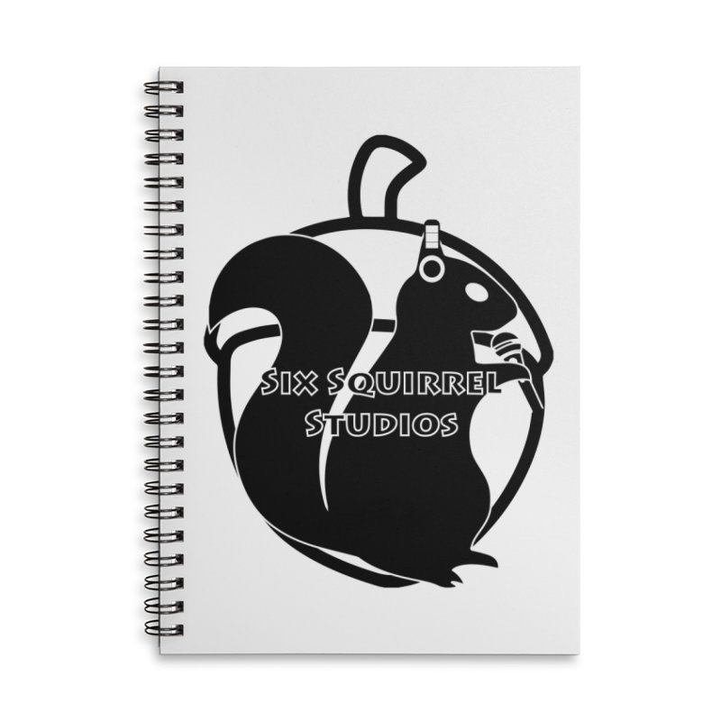 Classic Six Squirrel Studios Accessories Lined Spiral Notebook by SixSqrlStore