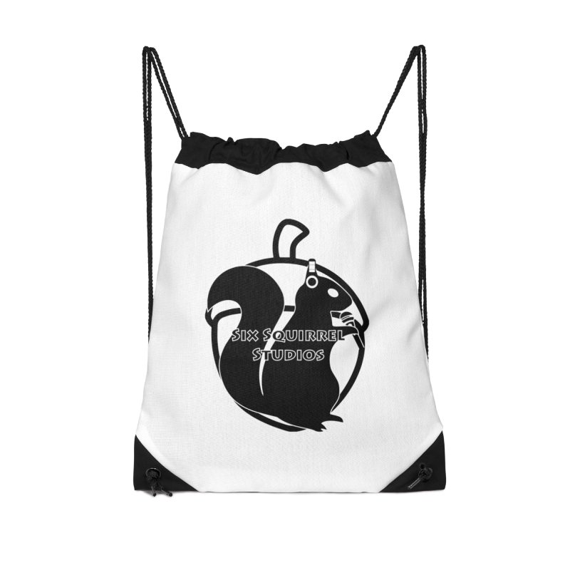 Classic Six Squirrel Studios Accessories Drawstring Bag Bag by SixSqrlStore
