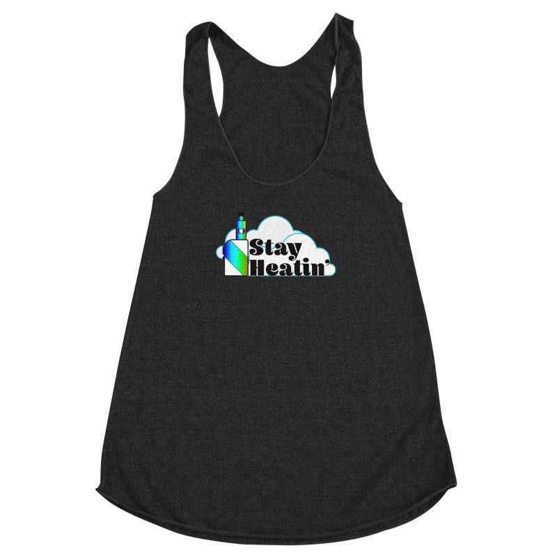 Stay Heatin' Women's Racerback Triblend Tank by SixSqrlStore