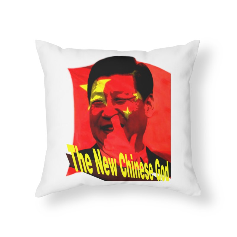 The New Chinese God Home Throw Pillow by Sixth Seal News Talk's Products & Items