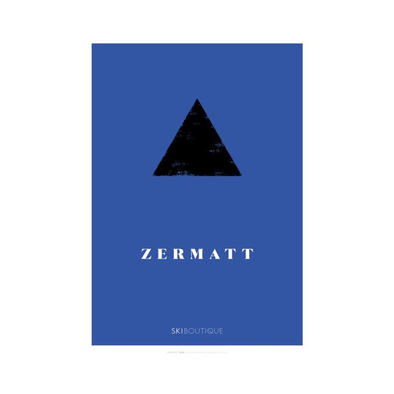 Zermatt Ski Poster Home Framed Fine Art Print by SkiBoutique's Luxury Poster Shop