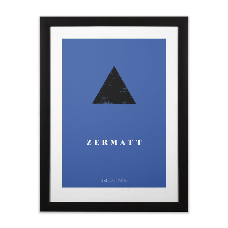 Zermatt Ski Poster Home Framed Fine Art Print by SkiBoutique's Luxury Poster Shop