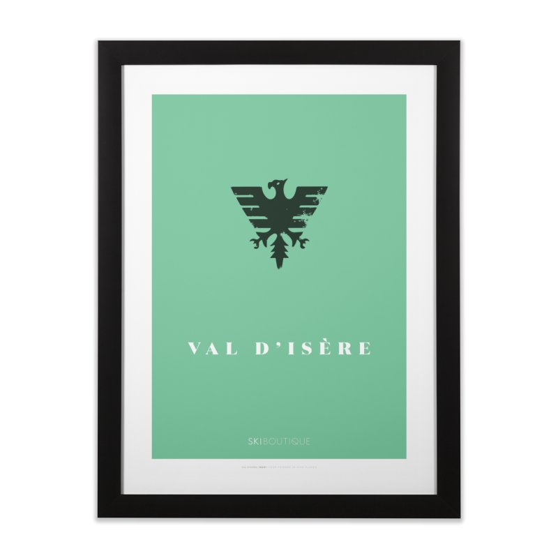 Val d'Isere Ski Poster Home Framed Fine Art Print by SkiBoutique's Luxury Poster Shop