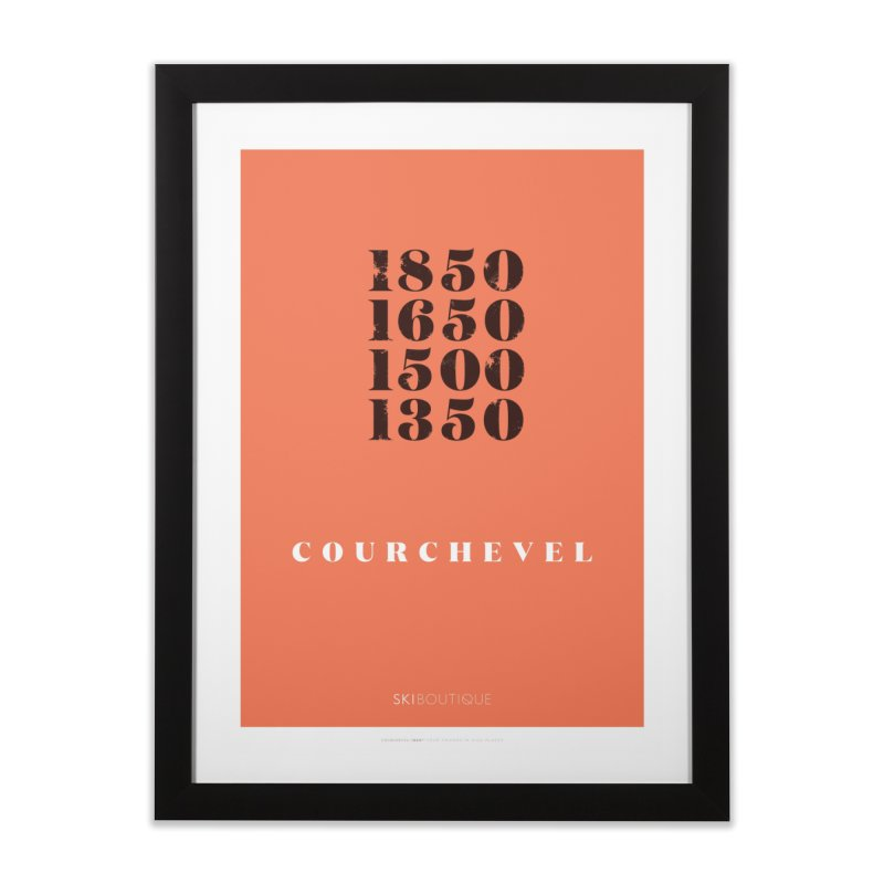 Courchevel Ski Poster Home Framed Fine Art Print by SkiBoutique's Luxury Poster Shop