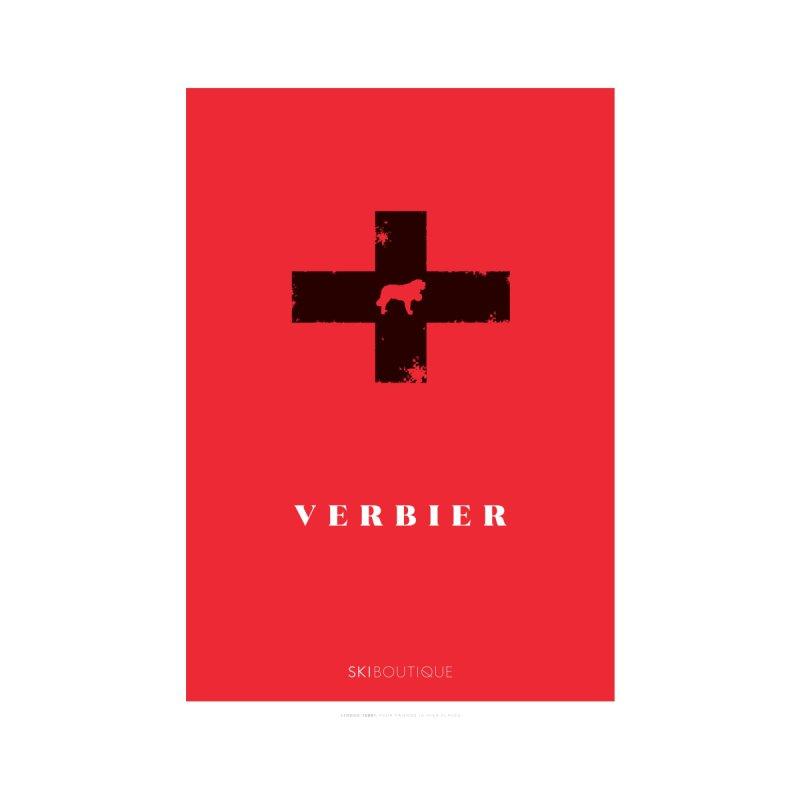 Verbier Ski Poster Home Framed Fine Art Print by SkiBoutique's Luxury Poster Shop