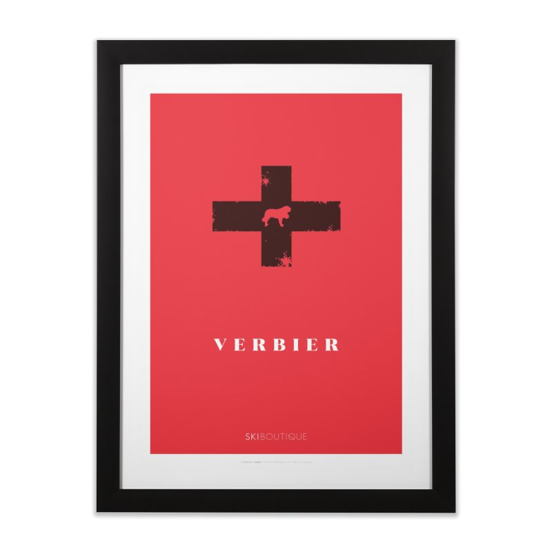Verbier Ski Poster Home Framed Fine Art Print by SkiBoutique's Luxury Poster Shop