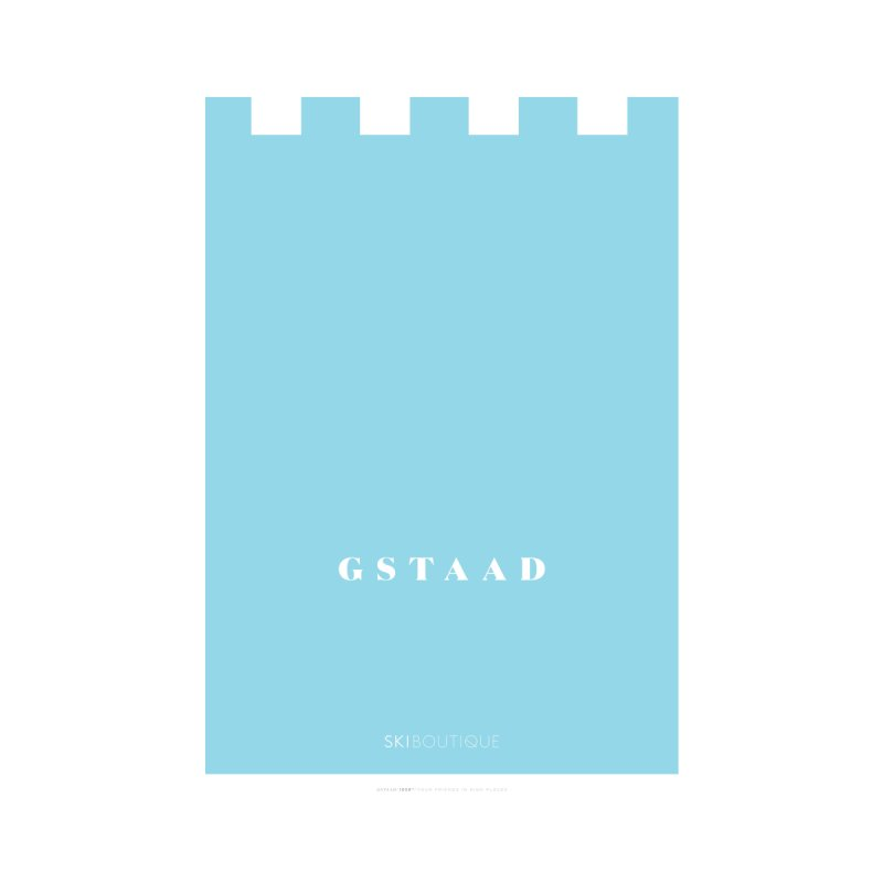 Gstaad Ski Poster Home Framed Fine Art Print by SkiBoutique's Luxury Poster Shop