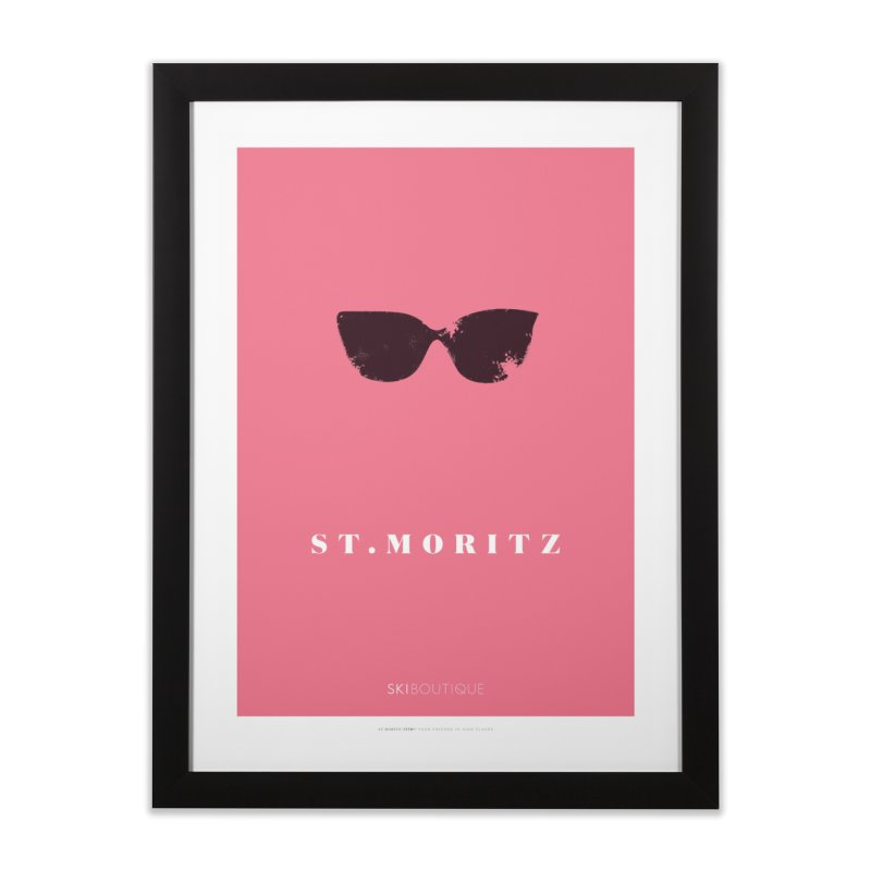 St Moritz Ski Poster Home Framed Fine Art Print by SkiBoutique's Luxury Poster Shop