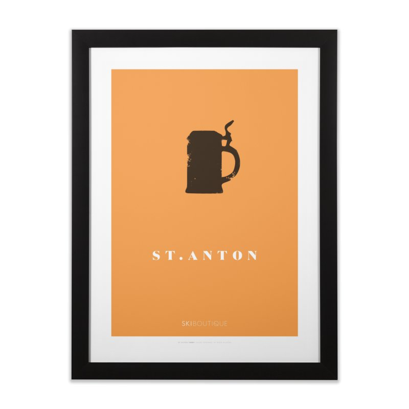 St Anton Ski Poster Home Framed Fine Art Print by SkiBoutique's Luxury Poster Shop