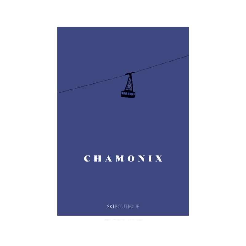 Chamonix Ski Poster Home Framed Fine Art Print by SkiBoutique's Luxury Poster Shop