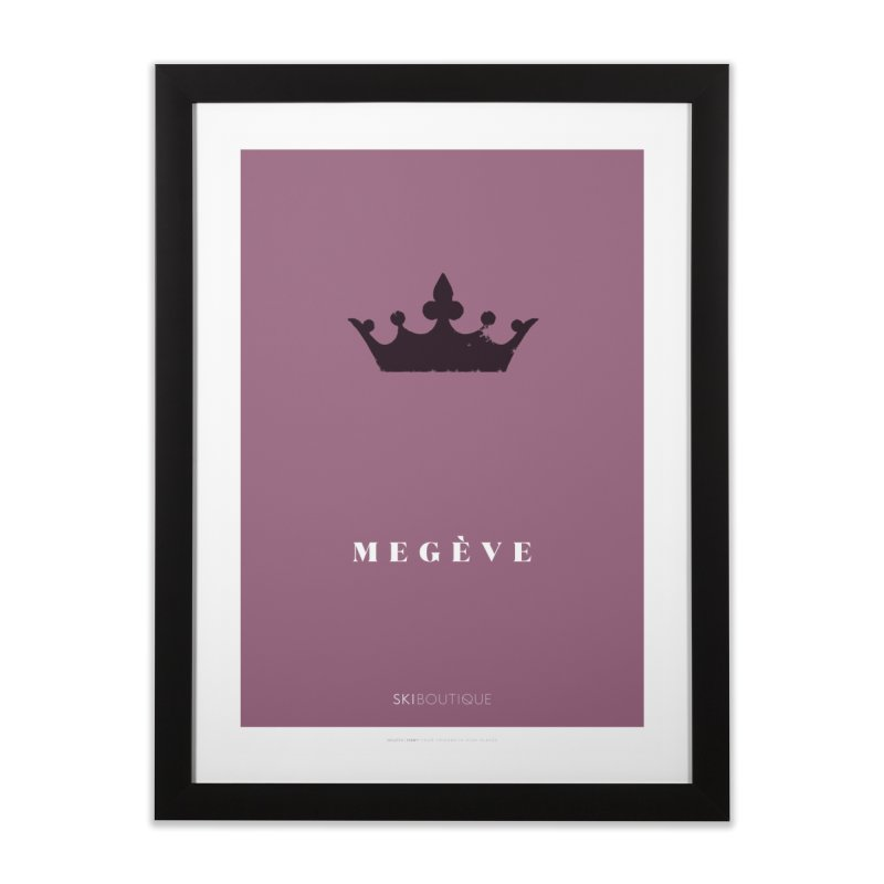 Megeve Ski Poster Home Framed Fine Art Print by SkiBoutique's Luxury Poster Shop