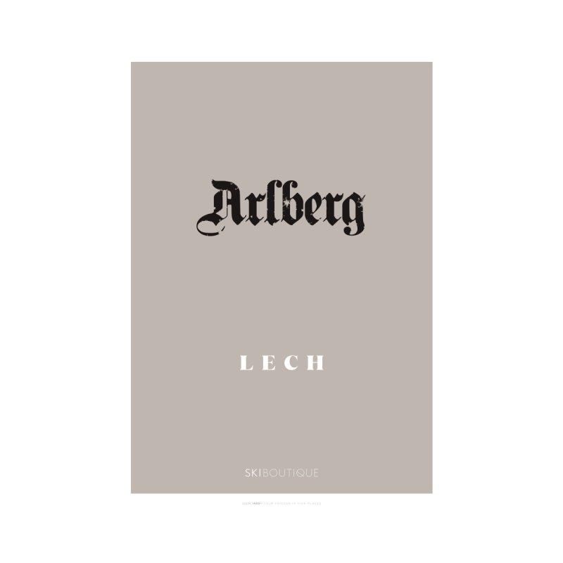 Lech Ski Poster  Home Framed Fine Art Print by SkiBoutique's Luxury Poster Shop