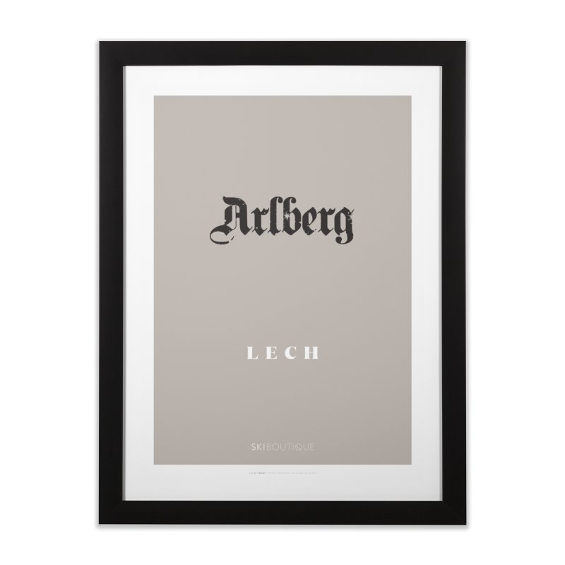 Lech Ski Poster  Home Framed Fine Art Print by SkiBoutique's Luxury Poster Shop