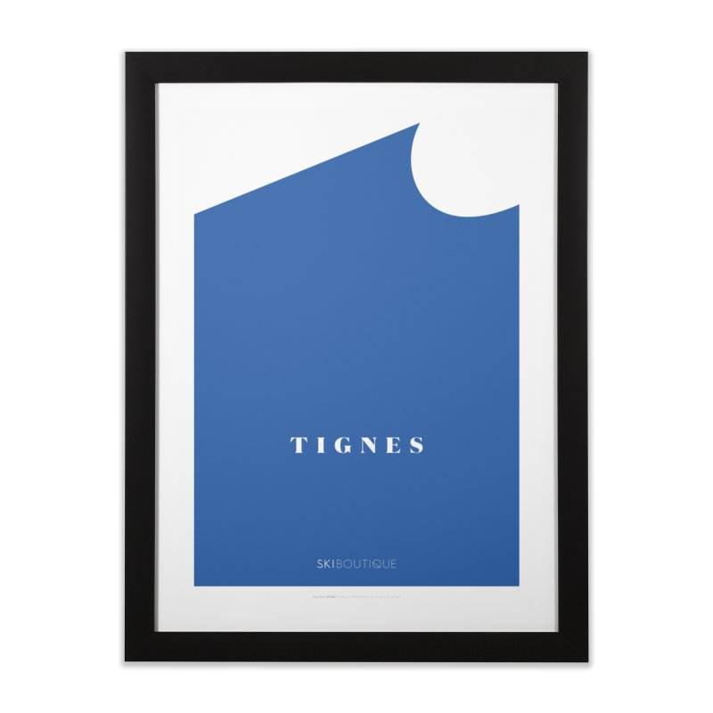 Tignes Ski Poster Home Framed Fine Art Print by SkiBoutique's Luxury Poster Shop