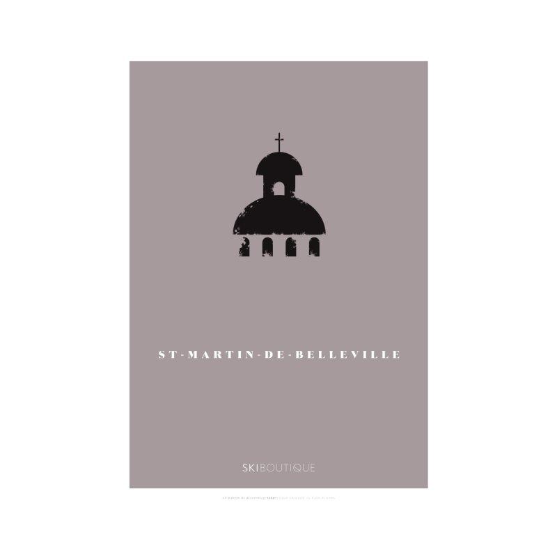 St Martin de Belleville Ski Poster  Home Framed Fine Art Print by SkiBoutique's Luxury Poster Shop