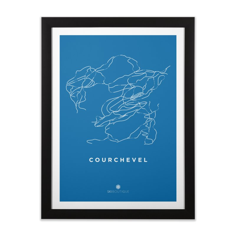 Courchevel Piste Map Poster Home Framed Fine Art Print by SkiBoutique's Luxury Poster Shop