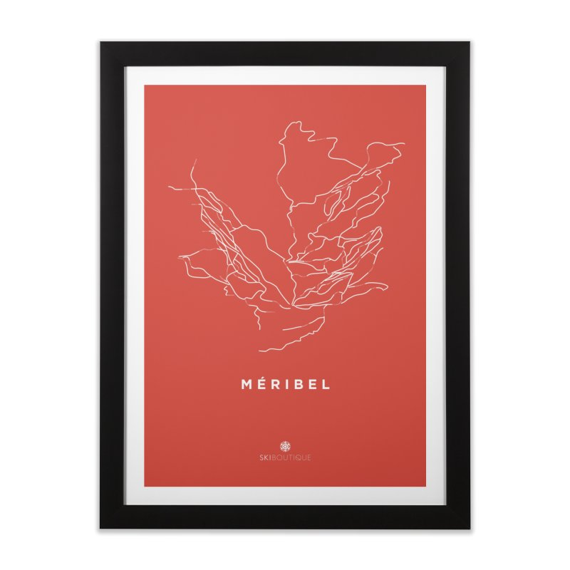 Meribel Piste Map Poster Home Framed Fine Art Print by SkiBoutique's Luxury Poster Shop