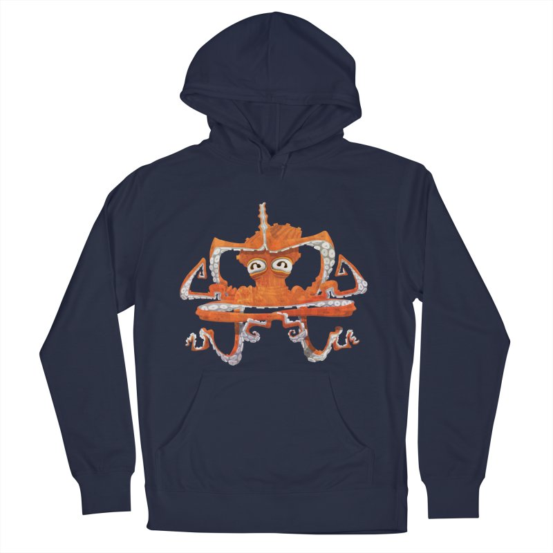 Octovasana in Men's French Terry Pullover Hoody Navy by Skrowl's Artist Shop