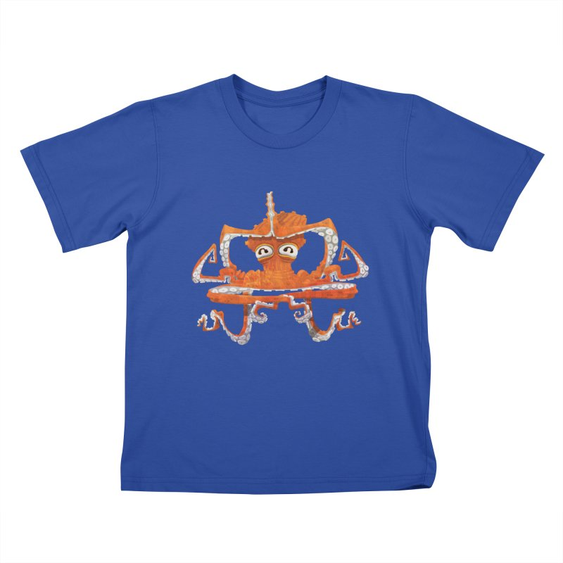 Octovasana Kids T-Shirt by Skrowl's Artist Shop