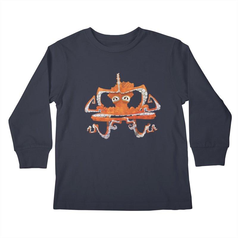 Octovasana Kids Longsleeve T-Shirt by Skrowl's Artist Shop