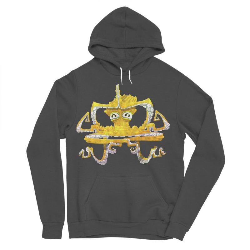 octovasana. yellow on black Women's Sponge Fleece Pullover Hoody by Skrowl's Artist Shop