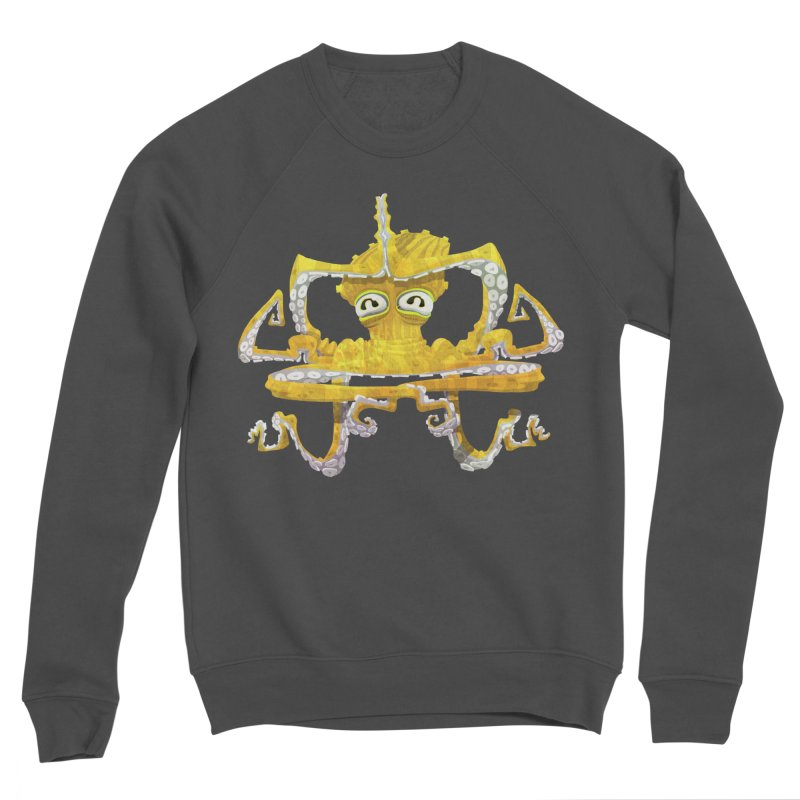 octovasana. yellow on black Women's Sponge Fleece Sweatshirt by Skrowl's Artist Shop