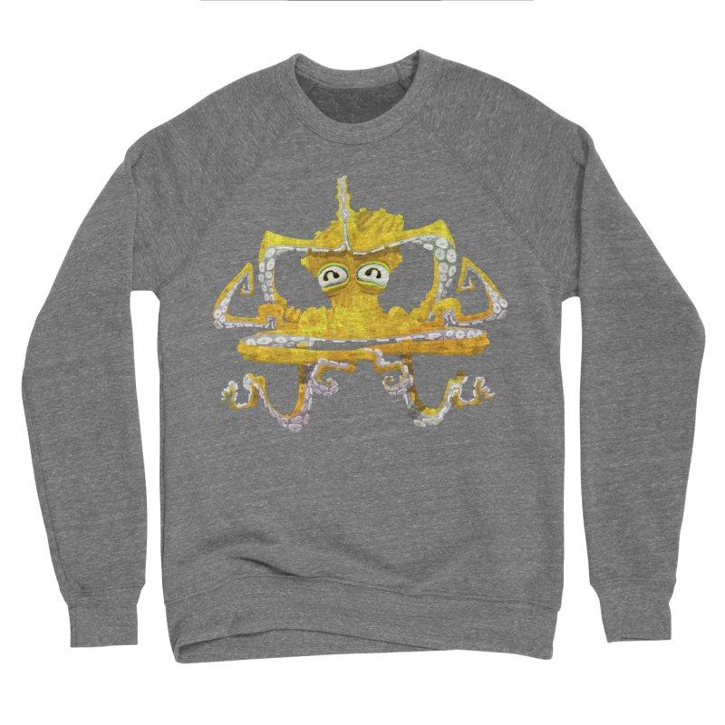 octovasana. yellow on black Women's Sponge Fleece Sweatshirt by Skrowl's Artist Shop
