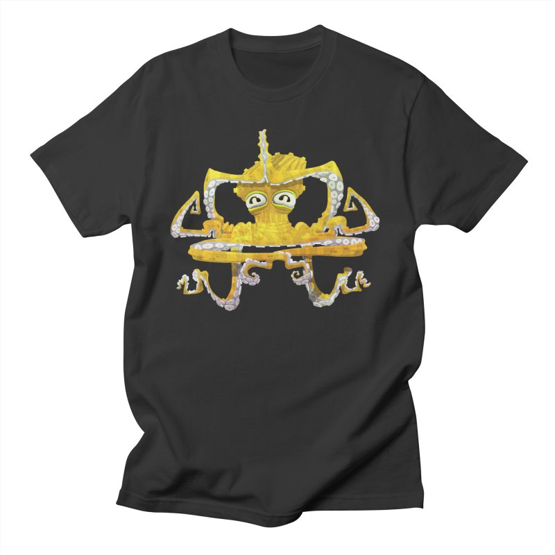 octovasana. yellow on black Men's T-Shirt by Skrowl's Artist Shop