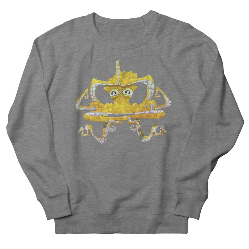 octovasana. yellow on black Women's French Terry Sweatshirt by Skrowl's Artist Shop