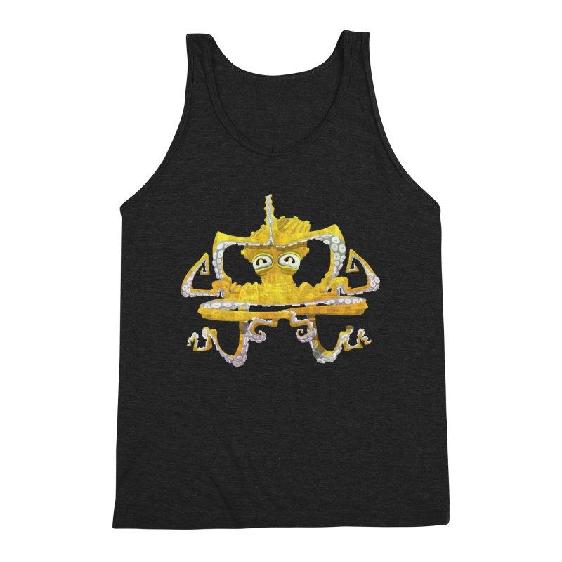 octovasana. yellow on black Men's Tank by Skrowl's Artist Shop