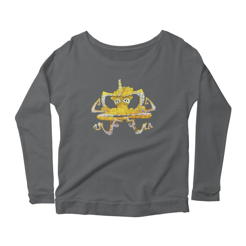 octovasana. yellow on black Women's Scoop Neck Longsleeve T-Shirt by Skrowl's Artist Shop