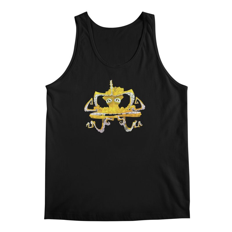 octovasana. yellow on black Men's Regular Tank by Skrowl's Artist Shop