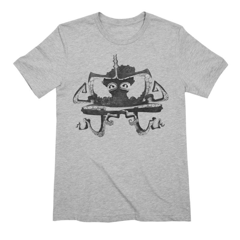 octovasana. black on white Men's Extra Soft T-Shirt by Skrowl's Artist Shop