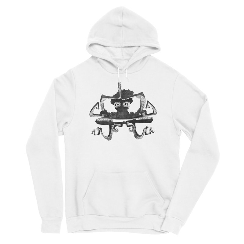 octovasana. black on white Men's Sponge Fleece Pullover Hoody by Skrowl's Artist Shop