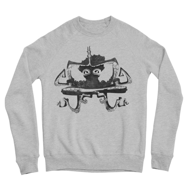 octovasana. black on white Women's Sponge Fleece Sweatshirt by Skrowl's Artist Shop