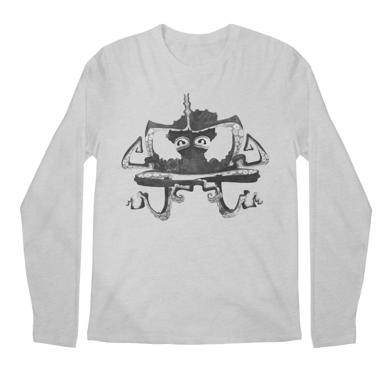 octovasana. black on white Men's Regular Longsleeve T-Shirt by Skrowl's Artist Shop