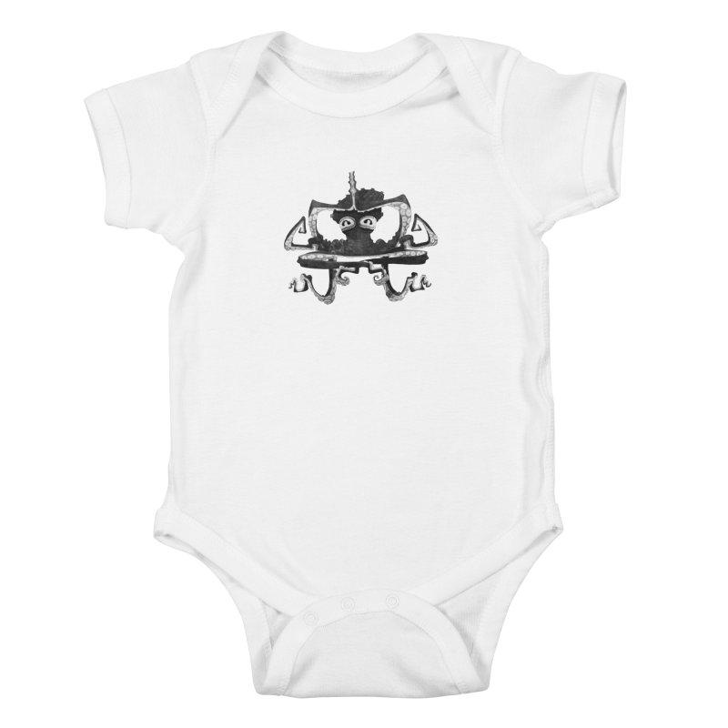octovasana. black on white Kids Baby Bodysuit by Skrowl's Artist Shop