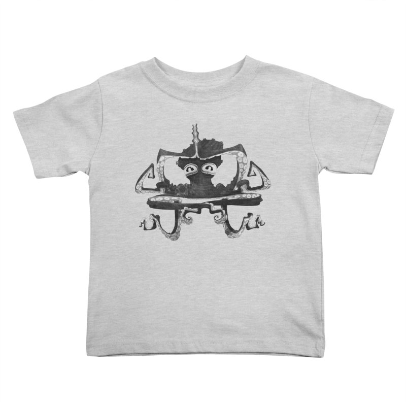 octovasana. black on white Kids Toddler T-Shirt by Skrowl's Artist Shop