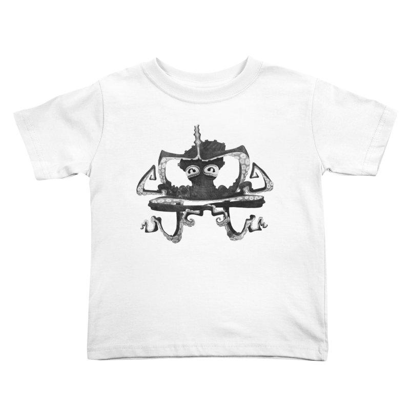 octovasana. black on white Kids Toddler T-Shirt by Skrowl's Artist Shop
