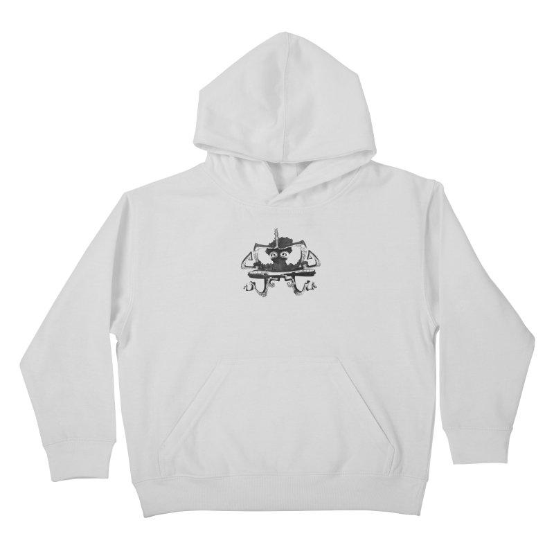 octovasana. black on white Kids Pullover Hoody by Skrowl's Artist Shop