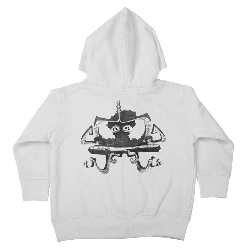 octovasana. black on white Kids Toddler Zip-Up Hoody by Skrowl's Artist Shop