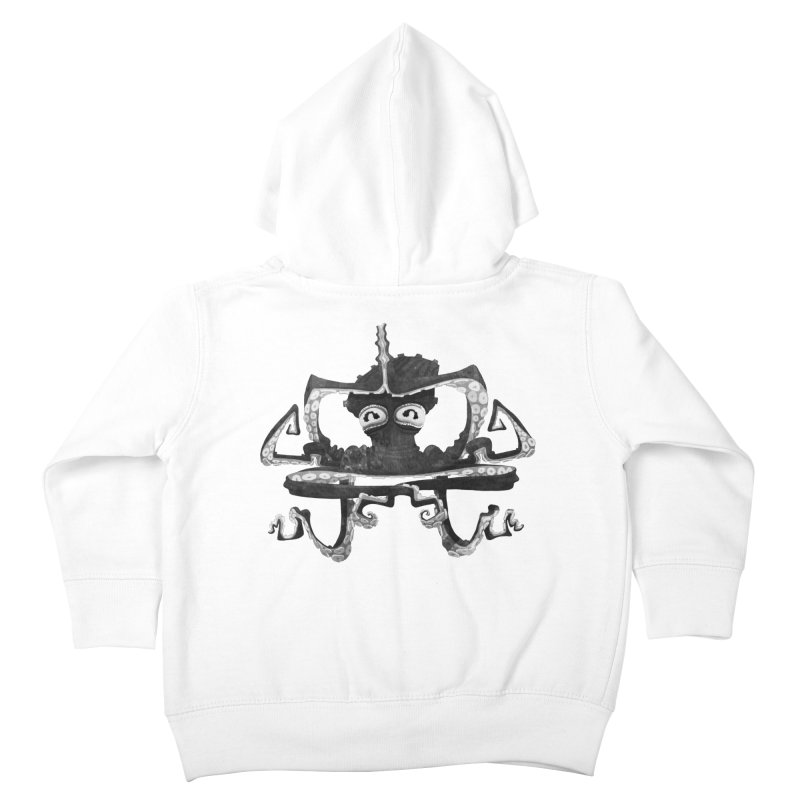 octovasana. black on white Kids Toddler Zip-Up Hoody by Skrowl's Artist Shop