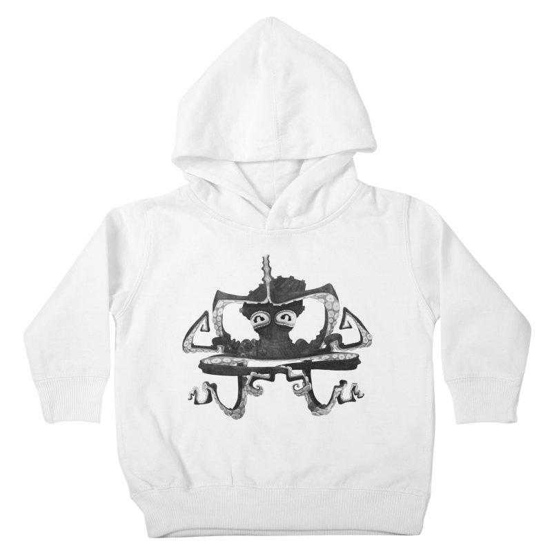 octovasana. black on white Kids Toddler Pullover Hoody by Skrowl's Artist Shop
