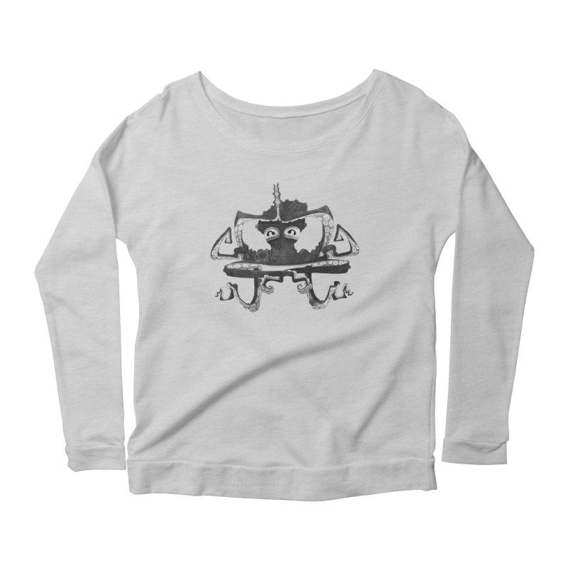 octovasana. black on white Women's Longsleeve T-Shirt by Skrowl's Artist Shop