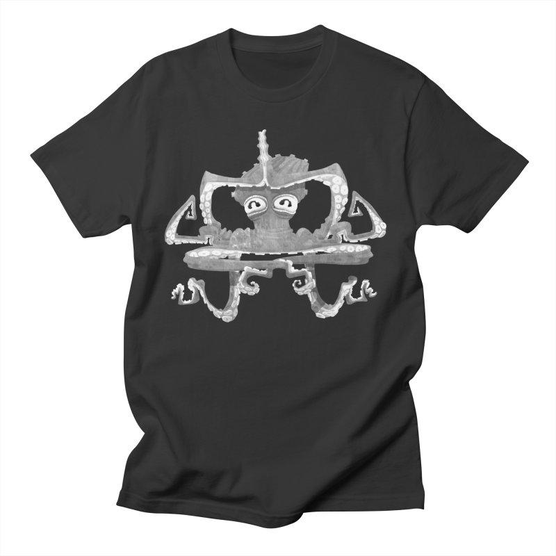 octovasana. white on black Men's T-Shirt by Skrowl's Artist Shop