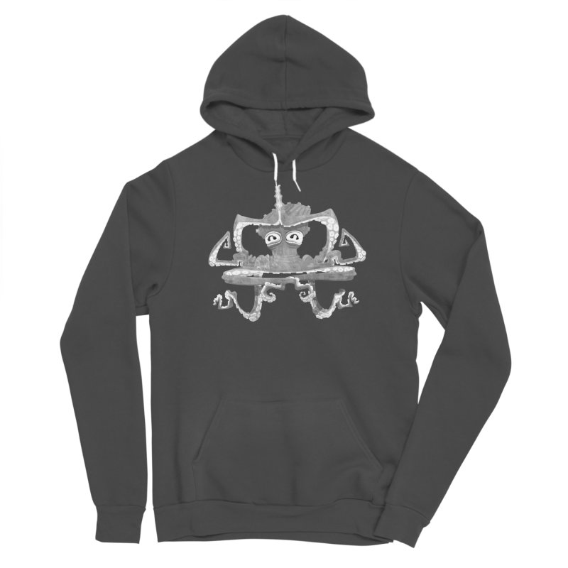 octovasana. white on black Men's Sponge Fleece Pullover Hoody by Skrowl's Artist Shop