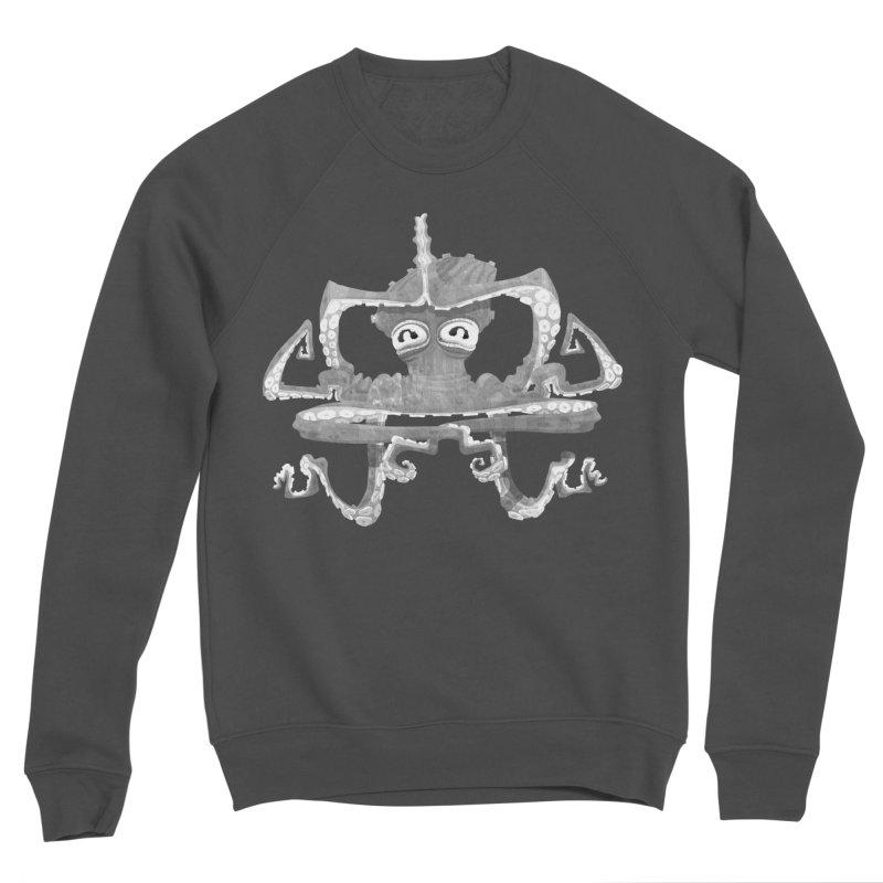 octovasana. white on black Men's Sponge Fleece Sweatshirt by Skrowl's Artist Shop