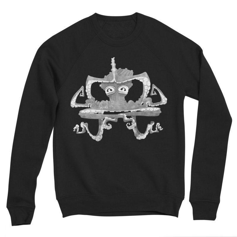 octovasana. white on black Men's Sponge Fleece Sweatshirt by Skrowl's Artist Shop