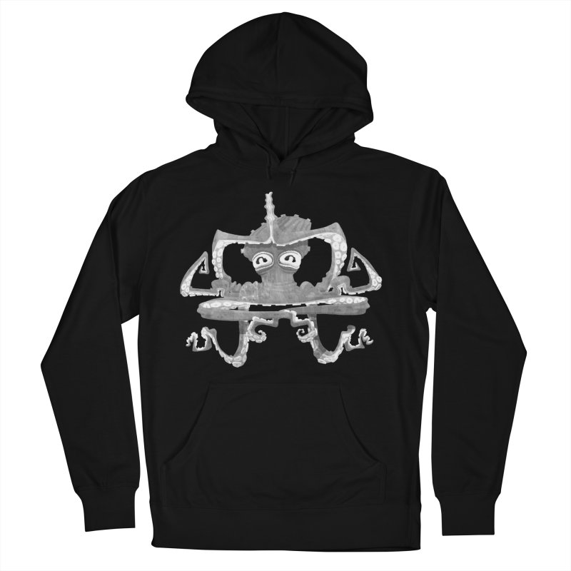 octovasana. white on black Women's French Terry Pullover Hoody by Skrowl's Artist Shop